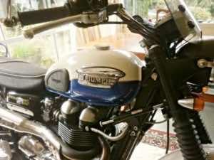riding a motorbike inside