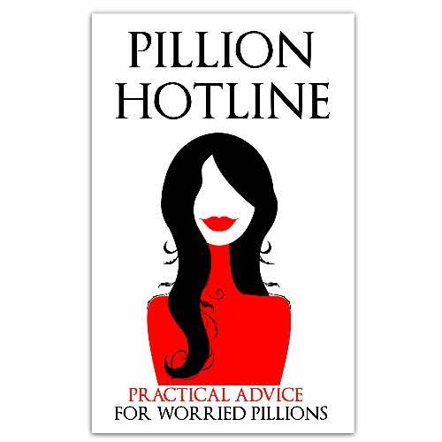 Pillion Hotline red woman