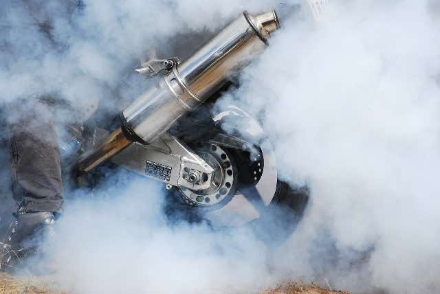 motorcycle rally burnouts