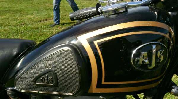 AJS motorbike tank