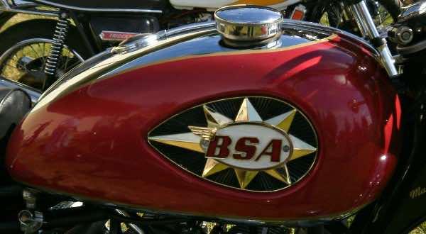BSA motorbike tank