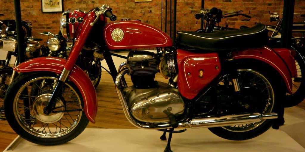 BSA vintage motorcycle