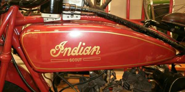 Vintage Indian motorcycle tanks