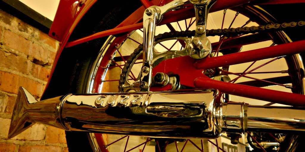 Motoguzzi pipe vintage motorcycle