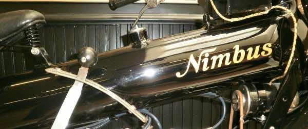 Nimbus motorbike tank is unusual