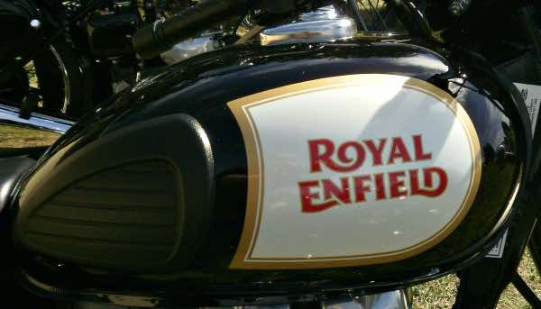 First Royal Enfield motorbike tank