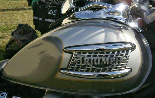 First Triumph motorbike tank