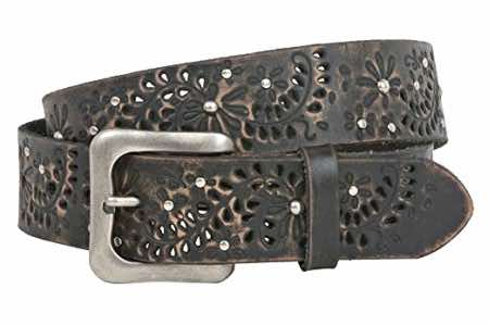 floral belt as motorcycle gear for women