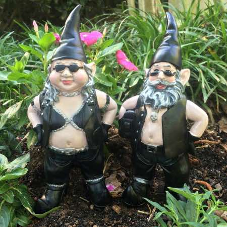 biker gnomes can annoy the neighbours