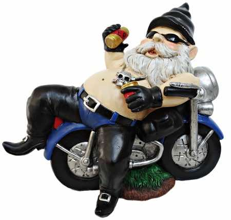 biker gnomes can help in the garage