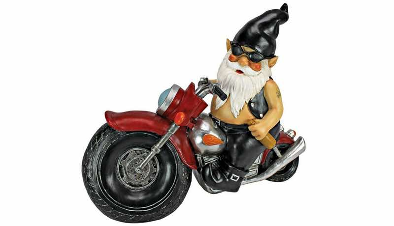 every home needs biker gnomes