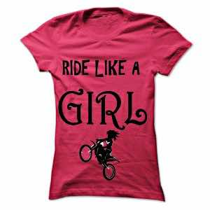 motorcycle t-shirts where pink is not girly