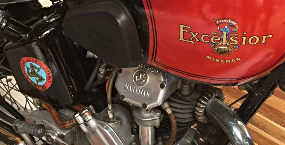 vintage motorcycles Excelsior Manxman 1939 350cc