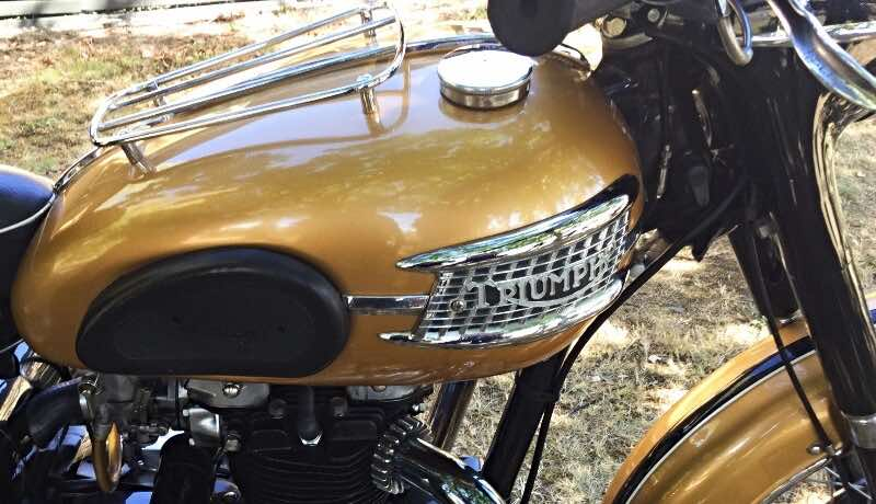 Triumph motorcycle gas tanks featured