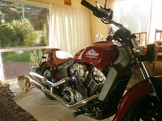 indoor parking on this motorcycle blog