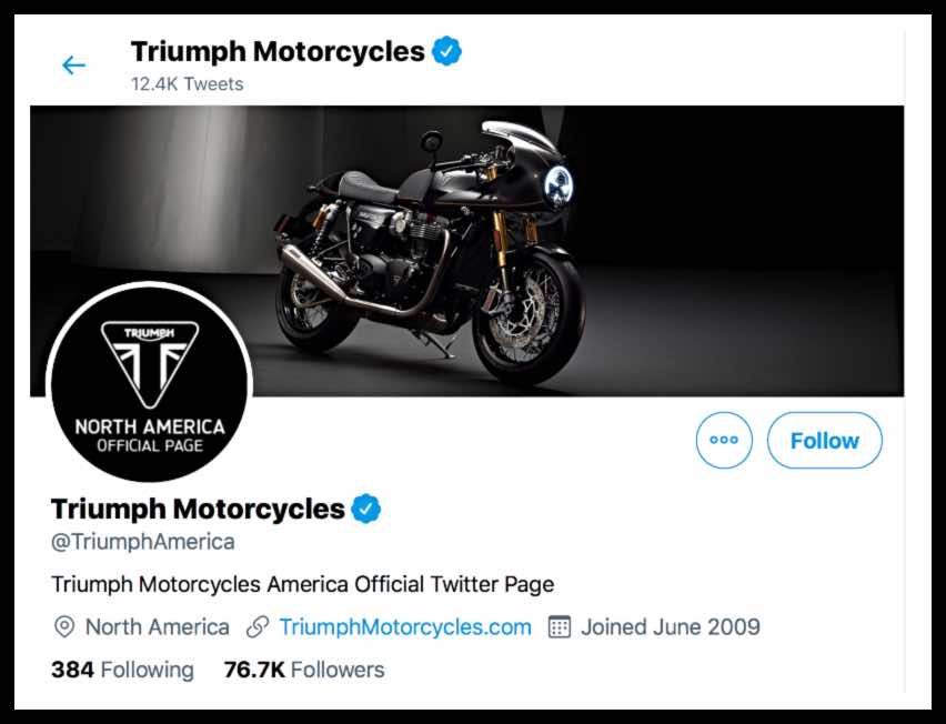 Triumph motorcycles on Twitter