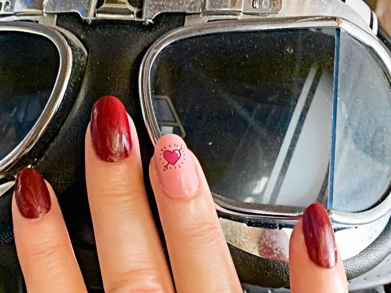 biker cupid nails
