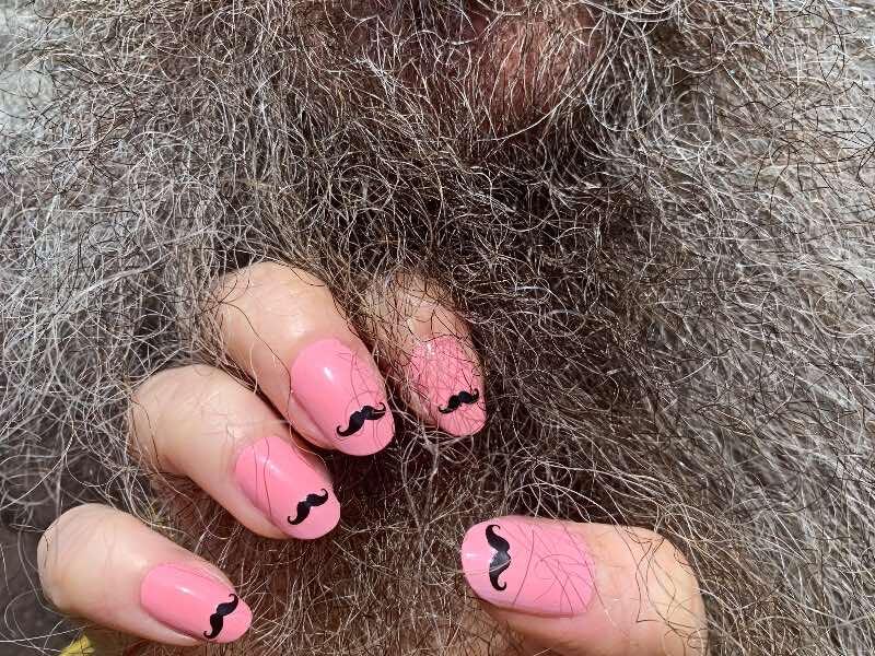 hairy biker nail design