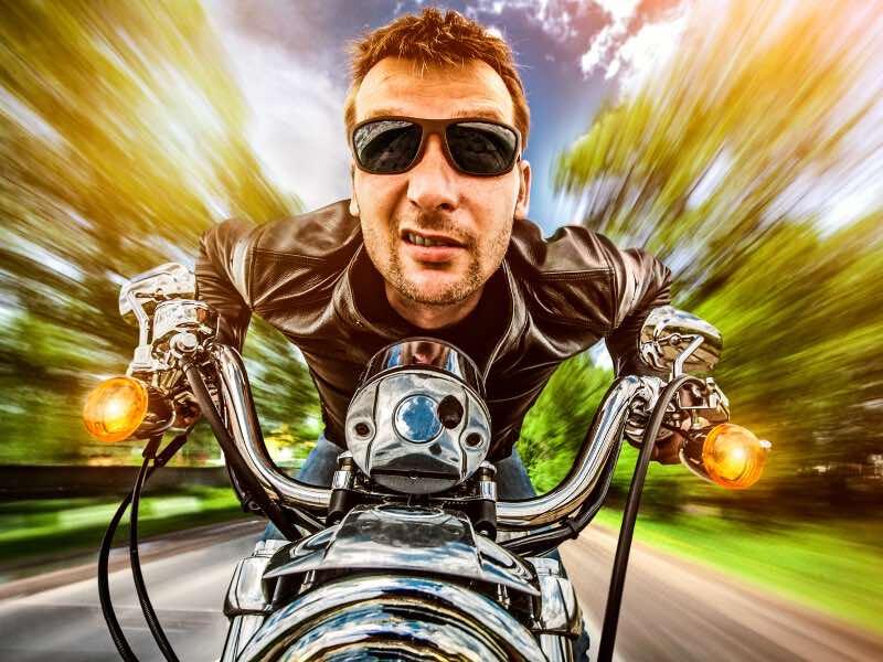 motorcycle riders speed