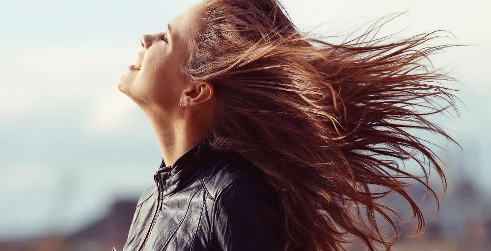 motorcycle wind rush
